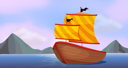 A ship at the ocean