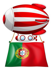 The flag of Portugal and the floating balloon