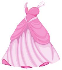 A beautiful pink dress