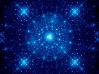 Blue winter fractal background