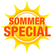 "Button Sonne ""Sommerspecial"" gelb"