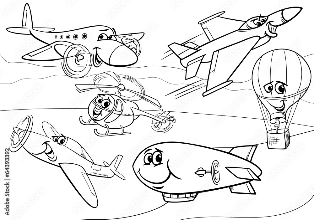 Раскраски по мультику самолеты