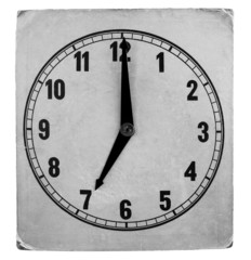 Vintage weathered paper clock face
