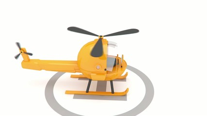 helicopter landing animation