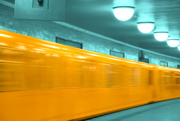 abstract u-bahn train berlin