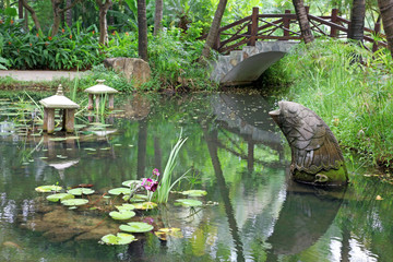 classic chinese garden, south China