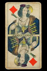 Spielkarte_sehr Alt_handbemalt_2