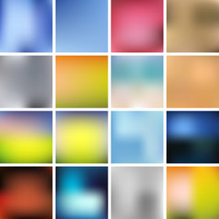 Colorful Smooth Background Set