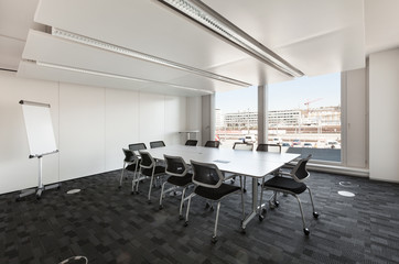 Building, interior, empty meeting room