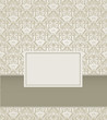 Vintage Damask Background Design