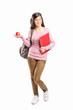 Schoolgirl holding an apple