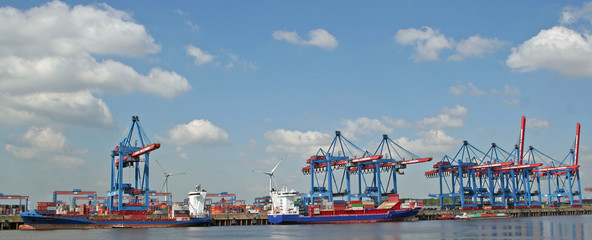 Hamburger Hafen: Container Terminal Altenwerder