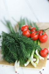 Fresh organic vegetable set