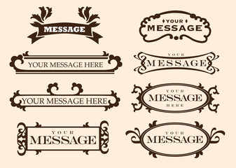 Vintage styled labels and designs