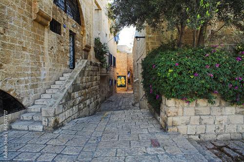 Fotobehang Midden Oosten Street of Jaffa Old Town, Israel