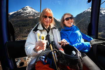 Going Up With The Ski Pass to Gaislachkogl, Sölden