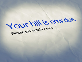 bill now due