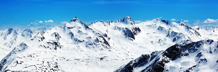 View from Gaislachkogl, Upper Station, Sölden, Austria