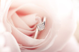 Engagement ring in pink rose - 64398507