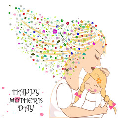 Happy Mother's Day card with flowers