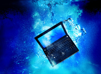 laptop underwater