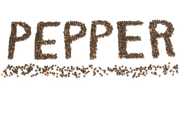 Pepper spelled with pepper