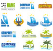 Travel and tourism Labels logo template collection.