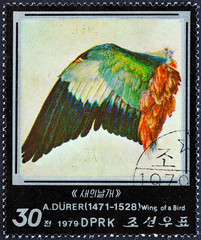 Wing of a Bird by Albrecht Durer (North Korea 1979)