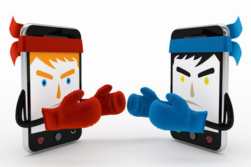 mobile phone conflict or fighting