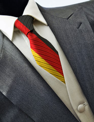 Wedding dress with flag Germany on tie