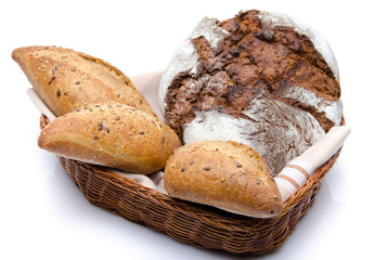 Some breads in a basket