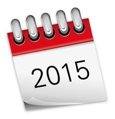Kalender rot Jahr 2015