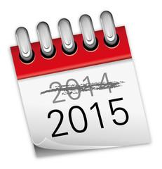 Kalender rot Jahreswechsel 2014 2015