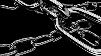 symbolic chains pulled high with strength,with alpha channel