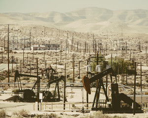 At the Midway-Sunset oil fields outside Bakersfield, crude oil is extracted from Monterey Shale.