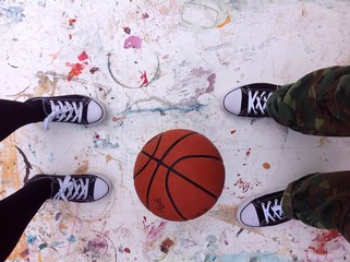 basketball sneakers grunge background
