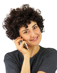 Woman talks on the phone