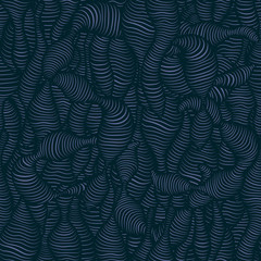Navy blue worm. Vector Illustration.