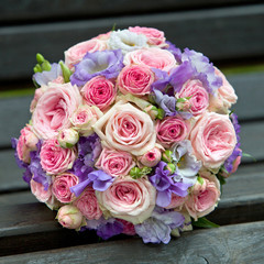 Bridal bouquet for the wedding ceremony