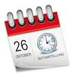 Kalender rot 26 Oktober Zeitumstellung Uhr Winterzeit