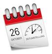 Kalender rot 26 Oktober Zeitumstellung Uhr Winterze