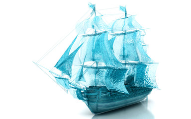 Veliero, acqua, gocce, splash, nave, crociera
