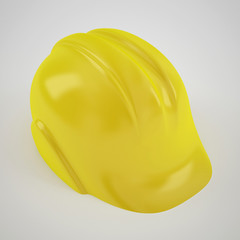 construction hard yellow helmet