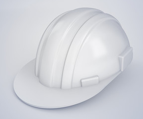 construction hard white helmet