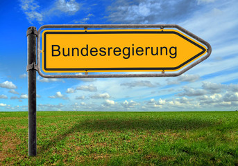 Strassenschild 17 - Bundesregierung