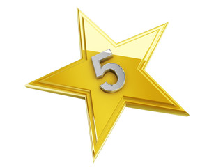 5 number in the star