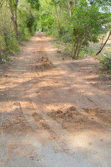 dirt road link to concrete road