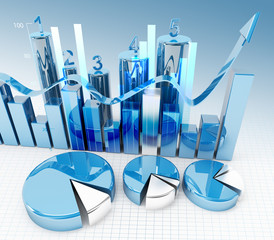 3d finance graphics