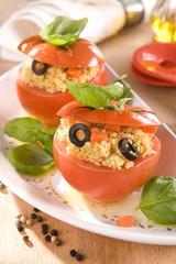 Tomatoes with couscous