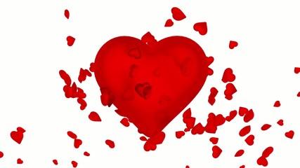 Heart spreads love.